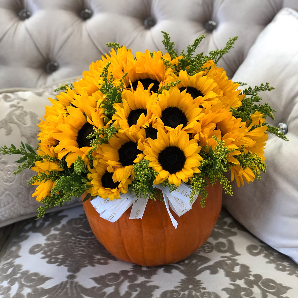 Sunflowers in a JLF Pumpkin