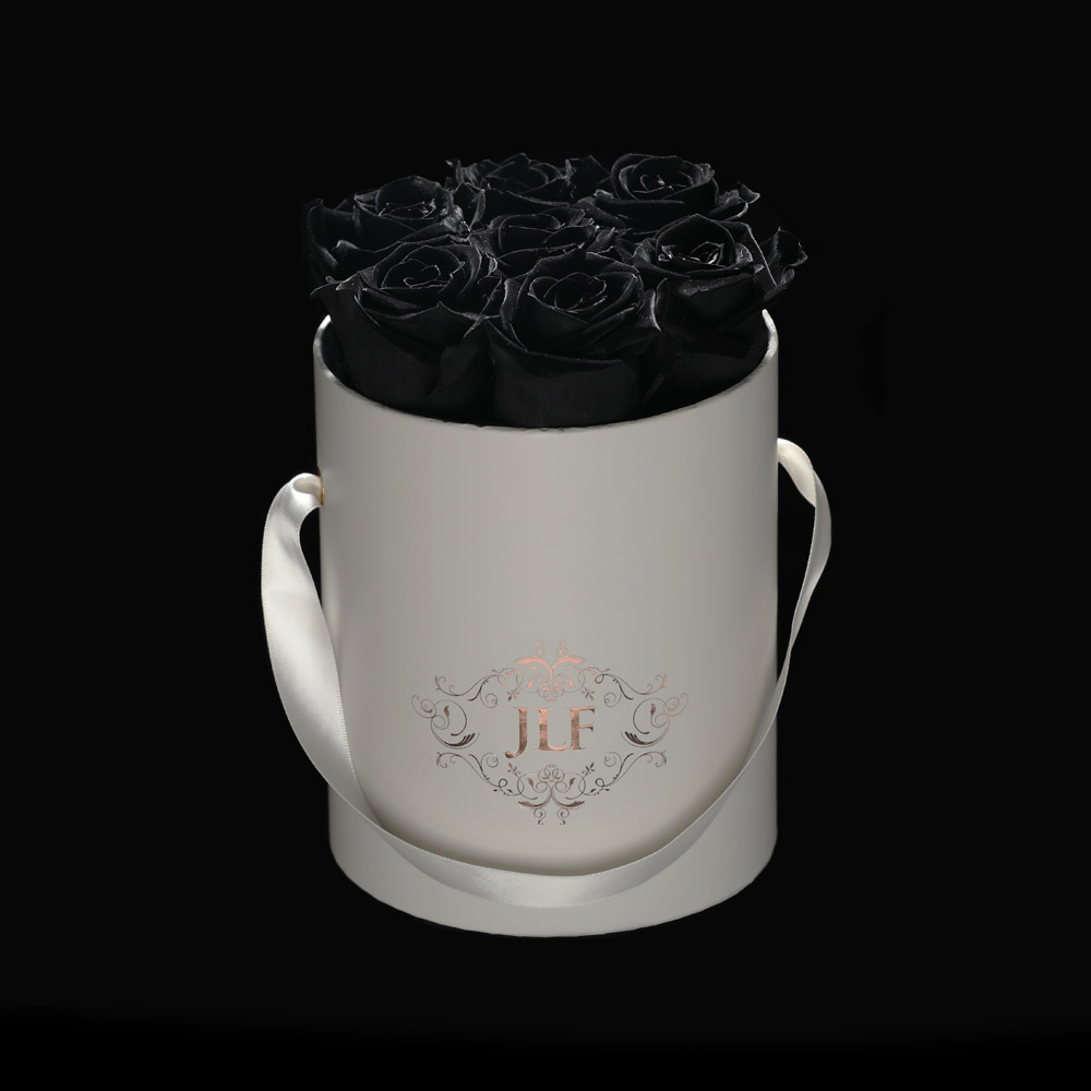 JLF Everlasting Black Roses In Mini Box