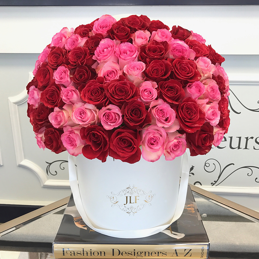 Signature Red & Pink Rose Box