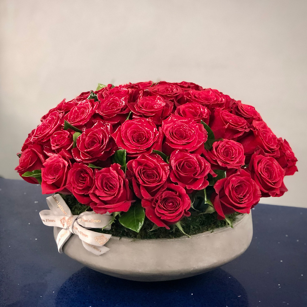 Rose Passion in a Vase