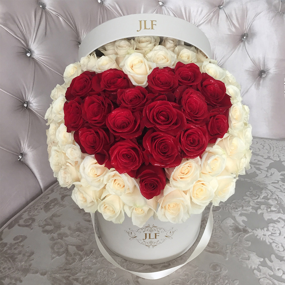 Signature Red Heart  Rose Box