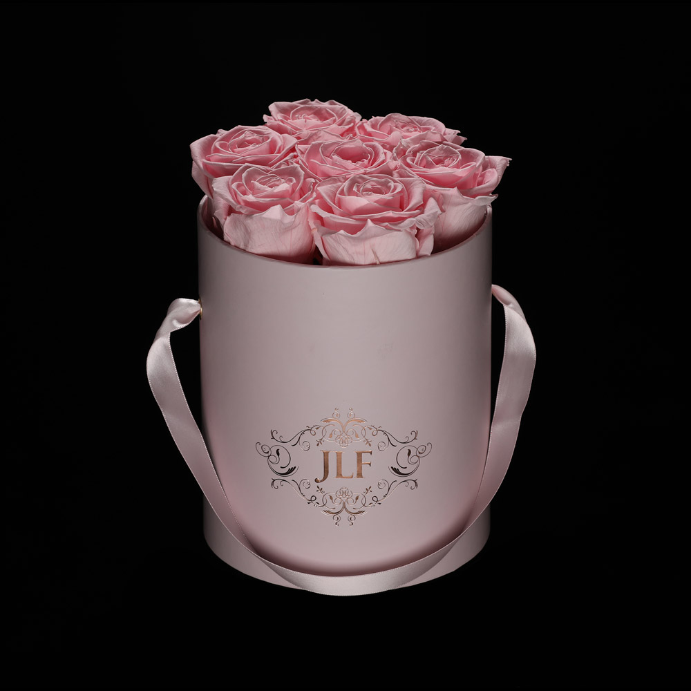 JLF Everlasting Light Pink Roses In Mini Box