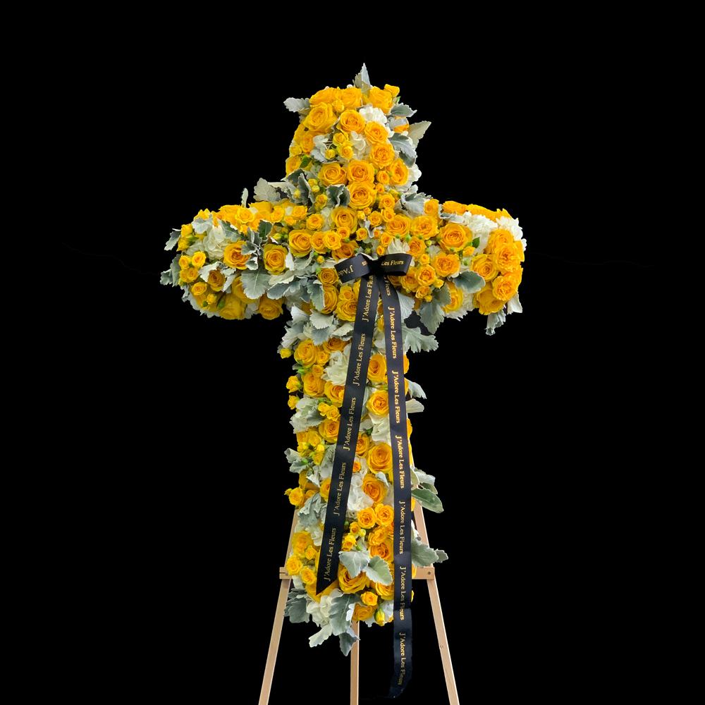 Yellow Standing Cross JLF Sympathy