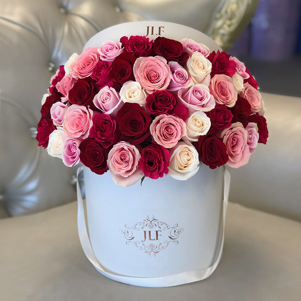 Signature Multicolor Rose Box