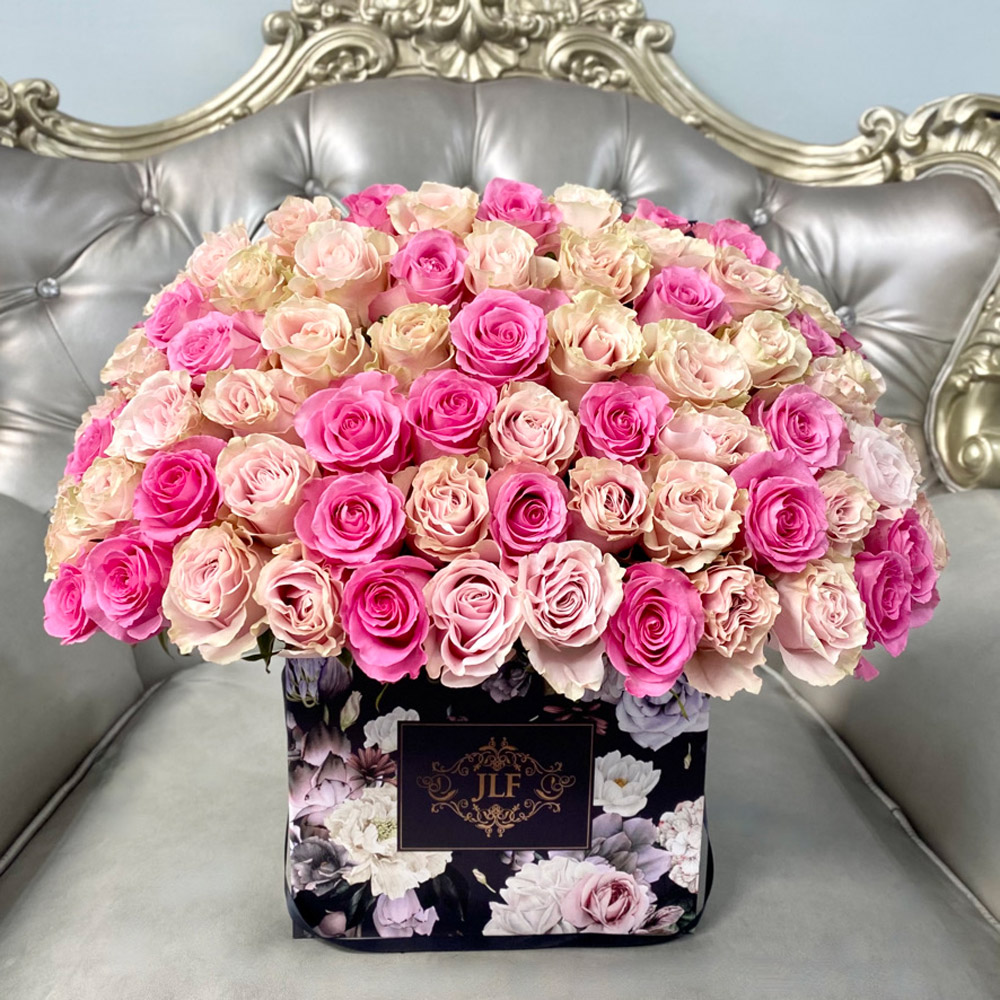 Signature Pink Roses in JLF Floral Box