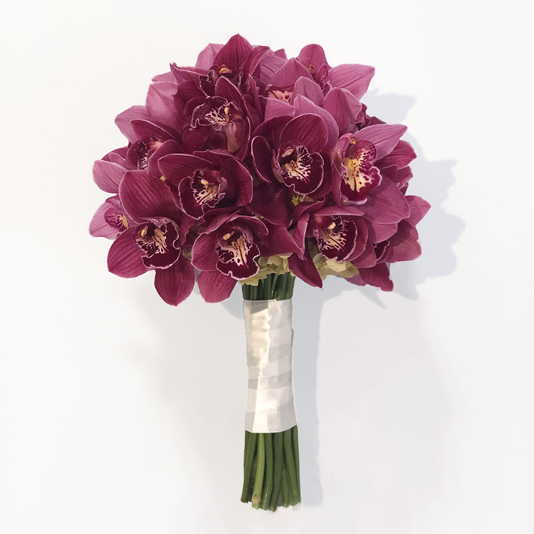 Burgundy Cymbidium Orchid Bouquet