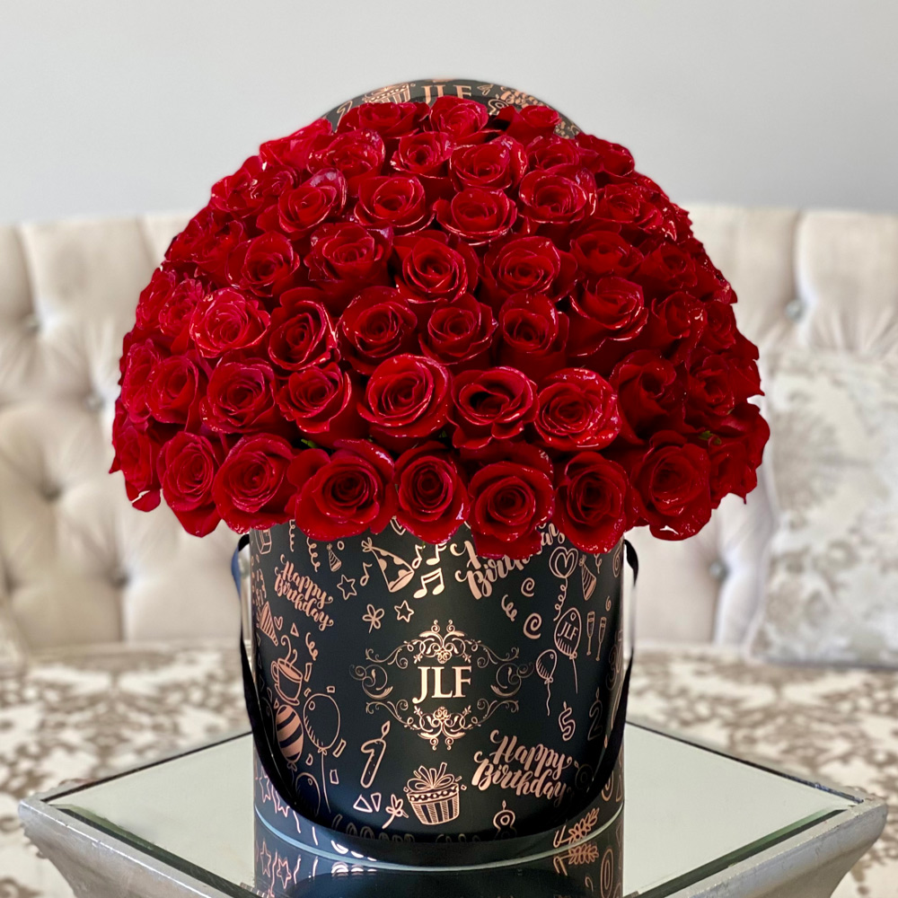 JLF Signature Red Rose Birthday Box