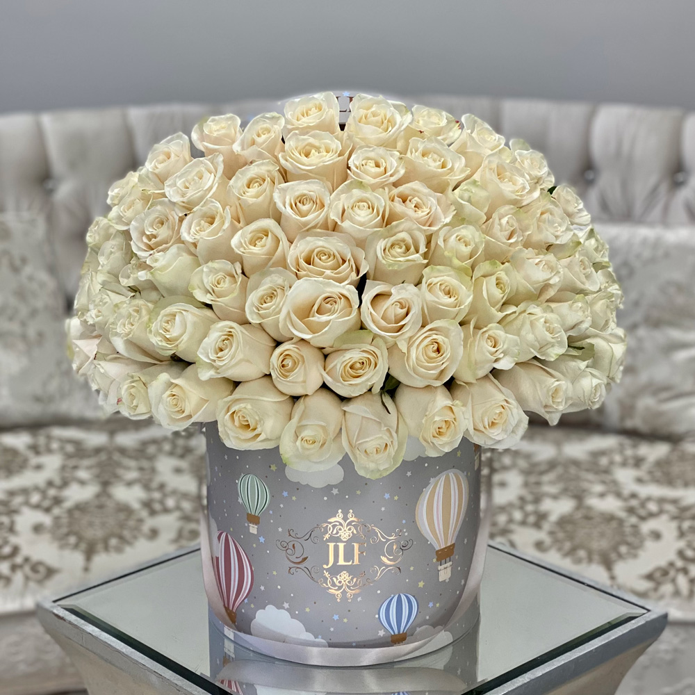 JLF Signature Roses in Up Up & Away Box