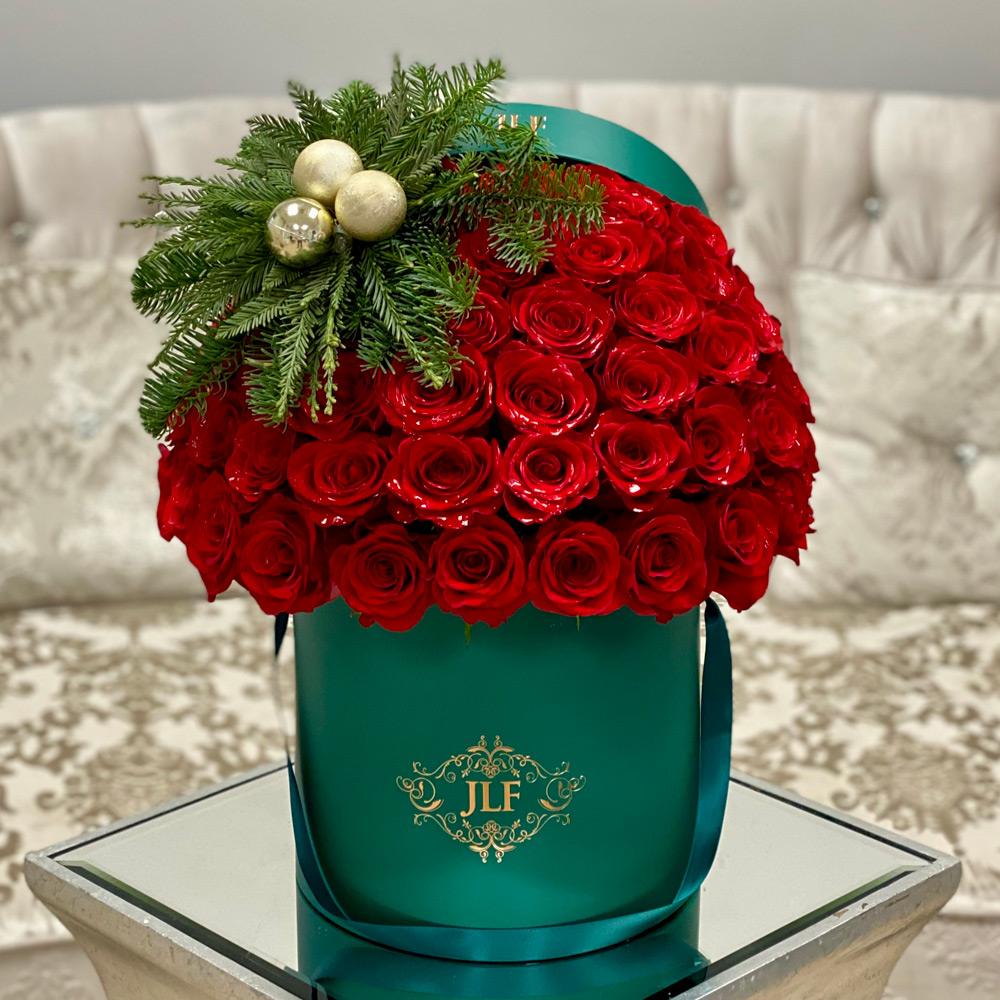 JLF Signature 50 Red Christmas Rose Box